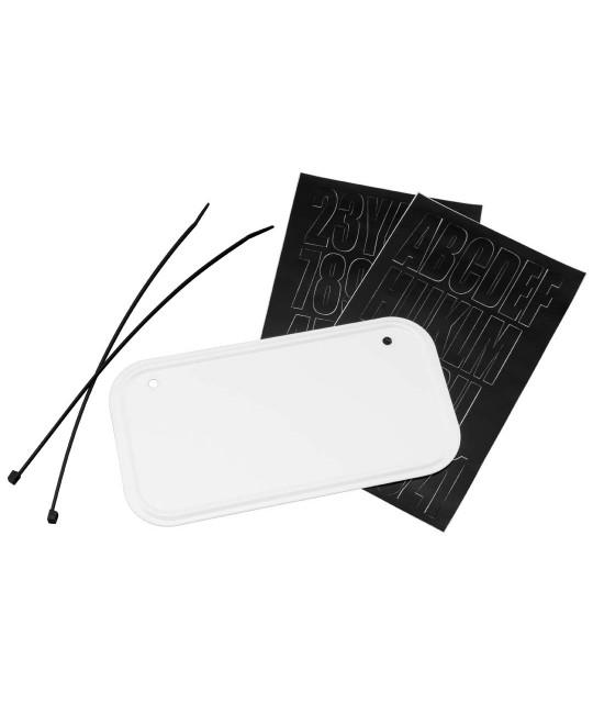 ATV License & Registration Kit-White Aluminum