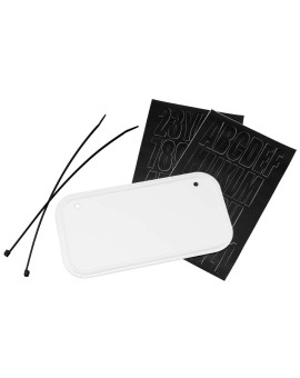 ATV License & Registration Kit-White Aluminum